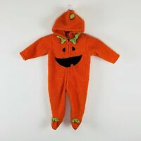 Pumpkin Footed Halloween Costume Jack O Lantern Infant Baby Boys Girls 9 Months