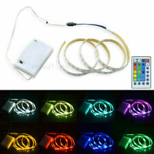Battery Powered Flexible LED Strip Light 5050 RGB Waterproof Portable Controller