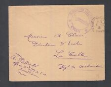 ALGERIA 1919 WWI FRANCE MILITARY IN ORAN FIELDPOST COVER TO LE CALLE CONSTANTINE