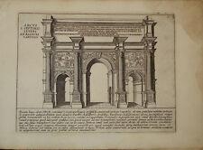 Stampa antica Arco Settimio Severo foro romano Lauro old print gravure