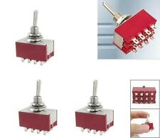 Sw26 4pcs Miniature Toggle Switch 3-position On-Off-On 4Pdt