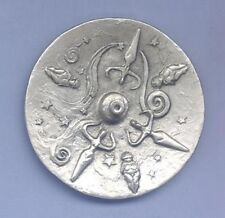 Goddess Stick Incense Burner - Round  ~Pewter  ~Made in the USA!