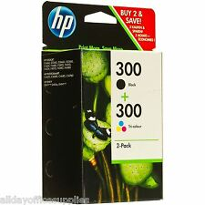 HP 300 Original Black & Colour Ink Cartridges Deskjet F4288 F4580 F4280 D1600