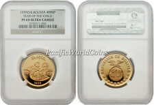 Bolivia 1979 Year of Child 4000 Pesos Bolivianos Gold NGC PF-69 ULTRA CAMEO
