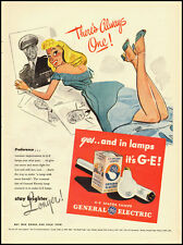 1945 Vintage ad for General Electric/GE MAZDA Lamps/WWII era (032613)