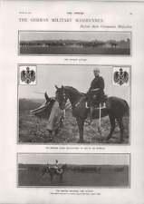 1900 il tedesco MANOVRE MILITARI Cairo accoglie Sir Francis Wingate