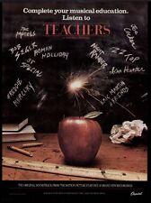 1984 ZZ TOP, JOE COCKER, BOB SEGER, ET.EL. TEACHERS SOUND TRACK ALBUM PROMO AD