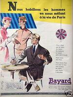 PUBLICITÉ BAYARD NOUS HABILLONS LES HOMMES EN NOUS MÊLANT À LA VIE DE PARIS