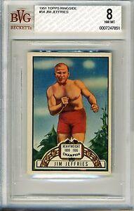 1951 Topps Ringside #54 Jim Jeffries BVG 8 NM-MT *Heavyweight Champion*