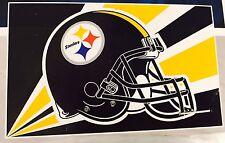 Pittsburgh Steelers Deluxe 3x5 Foot Logo Helmet Nfl Officially Licensed Flag