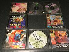8 X Sony Playstation 1 One ps1 gemischte Spaß Spiele Spielepaket Set gebrauchtes (ref10)