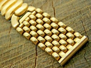 Vintage Watch Band 16mm Gold Filled Expansion Gemex USA Pre-Owned Beads of Rice