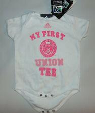 Philadelphia Union MLS Soccer MY FIRST Baby Shirt White PINK Sz 6/9 Months NEW @