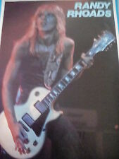 Guitar Heroe Randy Rhoads 1982 with Article Double Sided A4 to Frame?