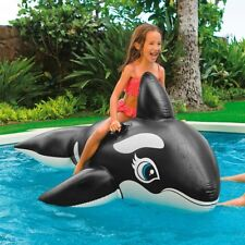 Whale Floatie Kid Ride-On Toy Blow Up Pool Water Raft Float Inflatable Beach New