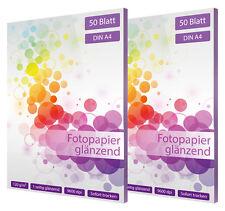 100 hoja de papel fotográfico din a4 120g brillante glossy blanco
