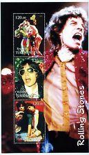 Rolling Stones 2001 Turkmenistan Stamp Block Souvenir Sheet; 4x7; Mick Jagger