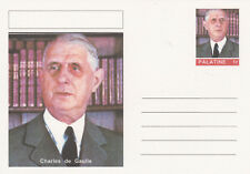 CINDERELLA  6455 - CHARLES de GAULLE - Fantasy Postal Stationery card