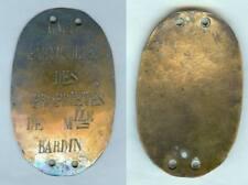 Plaque de métier - Garde particulier des propriétés de MLLE BARDIN