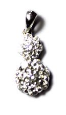 "Beautiful 1tcw RBC Diamond Cluster Pendant Enhancer 14k White Gold 7/8"""