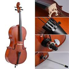 New 3/4 Size Wooden Cello Gloss Finish Basswood Face Board w/Bow+Rosin+Bag F4T8