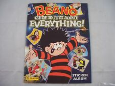 Panini The Beano Guide to just about Everything Sticker Album empty