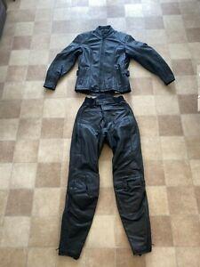 "HEIN GERICKE Ladies Leather Motorcycle Jacket UK 8 = 32"" chest FREE TROUSERS"