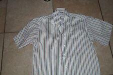 Gestreifte bügelleichte klassische Kurzarm Herrenhemden