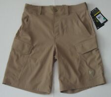 30 Men Under Armour Fish Hunter Loose Fit Cargo Shorts Beige Hydro Armour NWT
