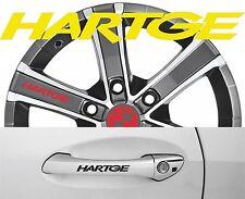 4 x Türgriff- Felgen Aufkleber BMW Hartge 001 #1439
