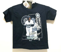 Ichiro Suzuki Seattle Mariners Youth Kids Size 4 MLB T Shirt Stitches NWT