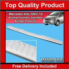 MERCEDES VITO VIANO W639 2003-10 REAR BUMPER PROTECTOR COVER S.STEEL BRUSHED