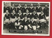 RUGBY CIGARETTE CARD - ARDATH - SCOTLAND RUGBY TEAM 1936 PHOTOGRAPH (OS01)