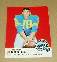 1969 Topps Football Card #125  ROMAN GABRIEL  L.A. RAMS  VG/EX