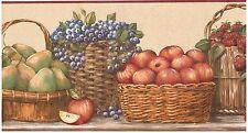 FRUIT IN BASKETS Wallpaper bordeR Wall Decor