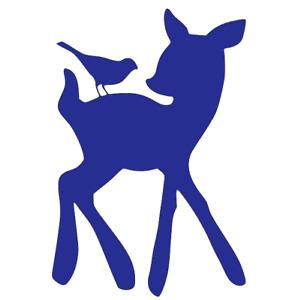 Bambi & Bird, Disney, Deer, Wall, Door, Vinyl, Decal, Sticker.