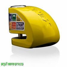 Xena XX6 Alarm Brake disc lock 6mm pin - yellow - Motorcycle Scooter Quad