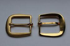 1 Schließe Gürtelschnalle 1,2 cm Farbe gold poliert 05.22