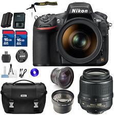Nikon D810 DSLR Kit With 18-55mm DX VR, TELE & WIDE AUXILIARY LENSES & BAG