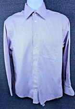 Eton of Sweden Mens Purple/White Cotton L/S Button Front Dress Shirt Sz. 15.5-39