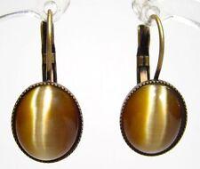 Modeschmuck-Ohrschmuck aus Gemischte Metallen mit Cabochon und Schnappverschluss