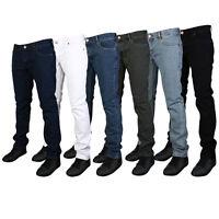 Mens Skinny Fit Jeans Slim Fit Jeans New Look Stretch Denim All waist sizes