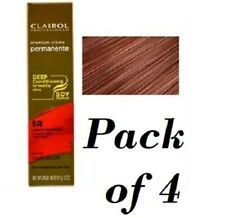 4 Clairol Professional Soy4Plex Permanent Hair color 5R Lightest Red Brown