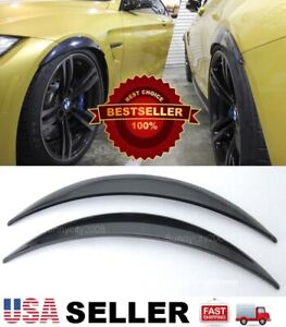 "1 Pair ABS Black 1"" Arch Extension Diffuser Wide Fender Flares For Hyundai Kia"