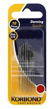 Korbond Darning Needles 10 Pieces Size 1/5 Care & Repair NEW 110242