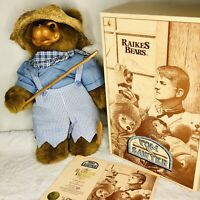 Raikes Bears Tom Sawyer Bear 18 inch Vintage Box COA Tag 1992 Limited Edition