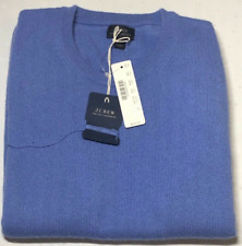NWT J.Crew Men's Italian cashmere crewneck sweater in blue size XL $225