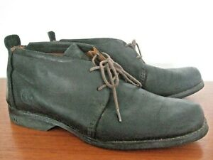 TIMBERLAND EARTHKEEPERS ANKLE BOOT SHOES 8 W SOFT LEATHER DK BROWN LACED