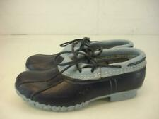 Womens 6 M Bean Boots by L.L.Bean Maine Rain Shoes Navy Blue Waterproof Slip-On
