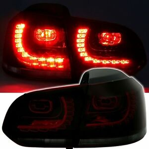 Rear Lights LED VW Golf 6 Sedan 10/2008-10/2012 Black Smoke Red Crystal
